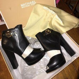 Michael Kors peep toe booties +box &dustbag