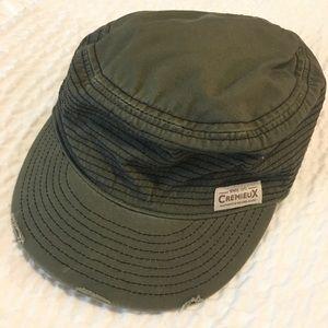 Cremieux green distressed hat