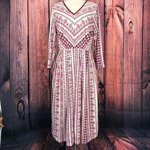 eShakti Fit & Flare Full Skirt Dress Floral