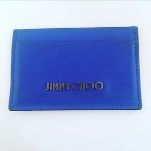 Jimmy Choo Midnight Blue Leather Card Holder