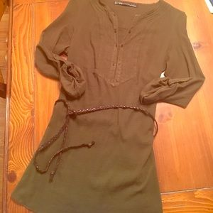 Zara olive tunic