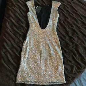 Zara Open Back Sequin Party Dress!!