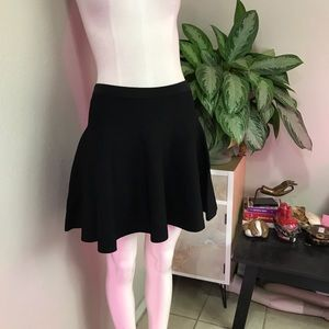 CLUB MONACO SZ S MINI SKIRT KNIT BLACK NEW