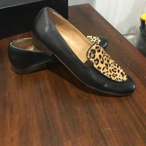 J Crew Calf Hair Loafers size 9