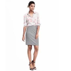 J. Crew 100% linen dark gray pencil midi skirt - 8