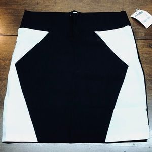 B&W Charlotte Russe Mini Skirt