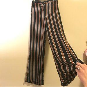 Cozy Striped Wide Leg Pants Size S
