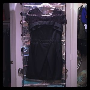 Black cocktail dress by Esley (bought on modcloth)