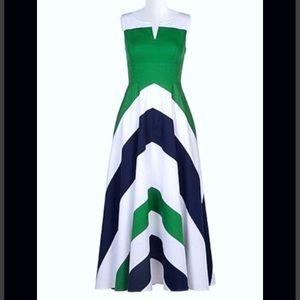 New Eshakti Chevron Fit & Flare Dress M 8