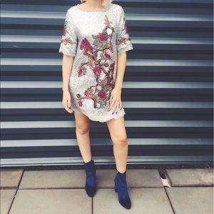 Zara embellished sequin dress