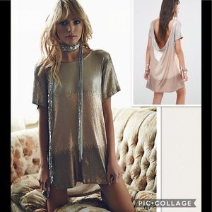 NWT Free People Drenched Sequins Mini Dress