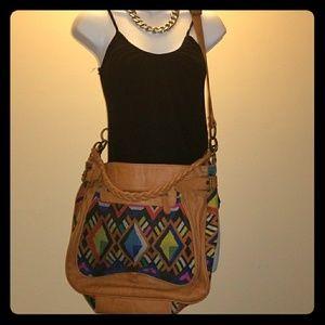 Fun Aztec design cross body bag