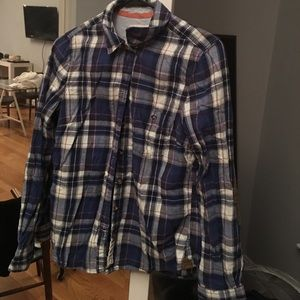 Women's flannel shirt with elbow patches. H&M