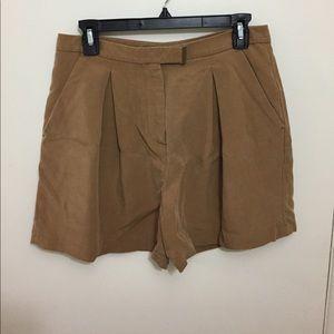 High-waisted dress shorts
