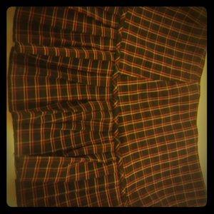 Forever 21 Plaid Pleated Skirt- Medium