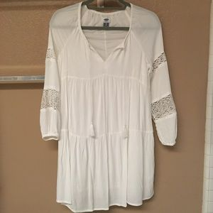 BEAUTIFUL OLD NAVY Boho White Women's Dress