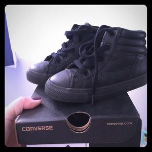 Converse Toddler size 8 hi-top leather sneaker