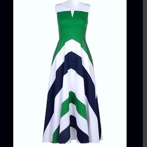 New Eshakti Chevron Fit & Flare Dress 22W
