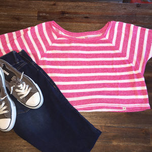 Hollister Womens Cropped Pink Sweater - XS/S