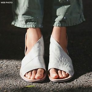 FREE PEOPLE Mont Blanc Leather Flat