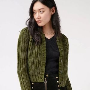 UNIFxUrban Outfitters Forest Green Chloe Cardigan