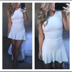BCBG bandage drop waist white mini dress M