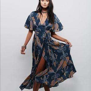 FREE PEOPLE Sweet Escape Wrap Maxi Dress