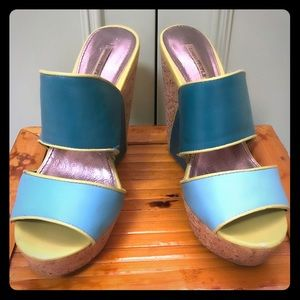 Lovely People: blue and green wedge