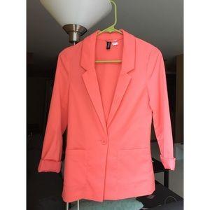 NEW H&M Coral blazer size 2