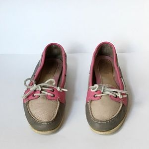 Sperry Pink and Brown Boat Shoes