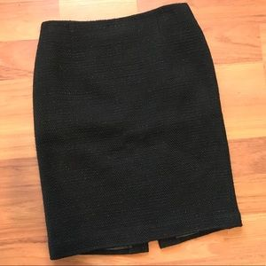 Talbots Black Tweed Skirt