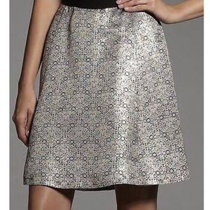 Narciso Rodriguez Gold Metallic Jacquard Skirt