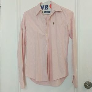 Ralph lauren Polo size 0 slim fit pink oxford