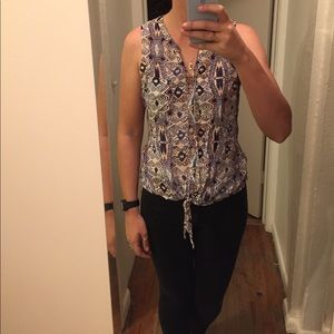 Lucky Brand tank top with tie in front