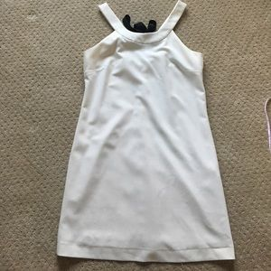 Zara white bow back dress