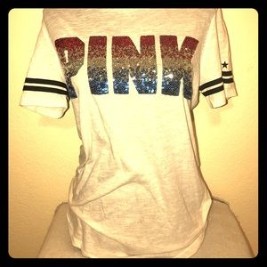 NWT 🎀 VICTORIA SECRET PINK BLING TEE 🇺🇸