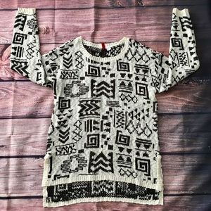 Divided by H&M tribal pattern sweater