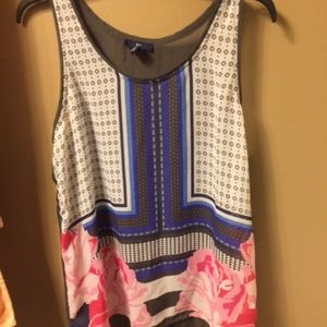 GAP Floral Sheer Tank Size Large