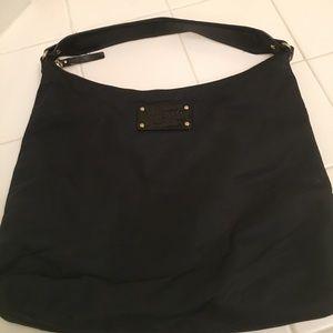 Kate Spade black nylon bag/leather strap
