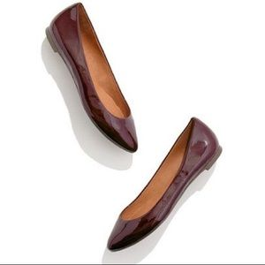 Madewell Burgundy Patent Sidewalk Skimmers in 8.5!