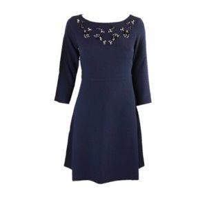Navy fit'n flare dress