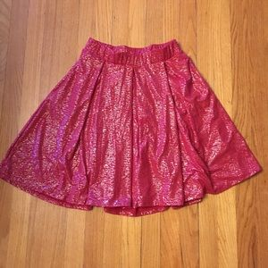 LuLaRoe Holiday Madison Skirt Red & Silver