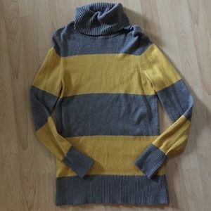 Lands End Rugby Striped Long turtleneck sweater S