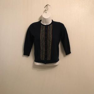J.Crew Vintage Wool Crop Top Cardigan Size Small