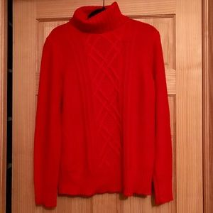 Great red turtleneck sweater from JCrew❤️