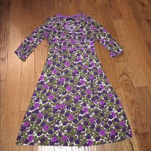 Boden purple floral dress size 10l gorgeous