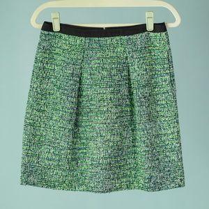 J. Crew Size 2 Kiwi Tweed Skirt