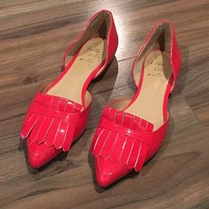 Banana Republic Arielle Red Patent Leather Flats.