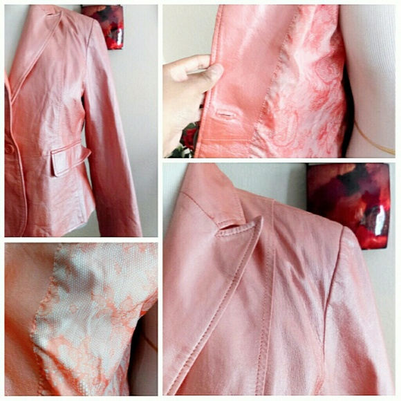 Wilsons Leather Jackets & Coats - Pearlized Creamsicle  Leather Jacket