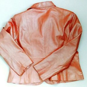Wilsons Leather Jackets & Coats - Pearlized Creamsicle  Leather Jacket